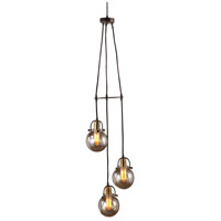 Uttermost 22141 Methuen 3 Light 12 inch Weathered Bronze and Antique Brass Pendant Ceiling Light alternative photo thumbnail