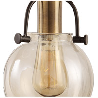 Uttermost 22141 Methuen 3 Light 12 inch Weathered Bronze and Antique Brass Pendant Ceiling Light 22141_A1.jpg thumb