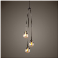 Uttermost 22141 Methuen 3 Light 12 inch Weathered Bronze and Antique Brass Pendant Ceiling Light 22141_Lifestyle.jpg thumb