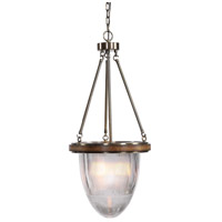 Uttermost 22154 Clemmie 1 Light 15 inch Fruitwood Pendant Ceiling Light