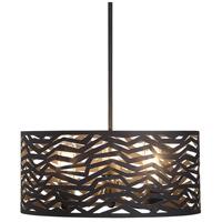 Uttermost 22156 Cypress 3 Light 20 inch Black Powder Coat Outdoor Pendant