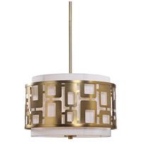 Uttermost 22159 Vecta 3 Light 20 inch Natural Brass Pendant Ceiling Light
