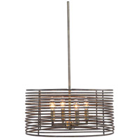Uttermost 22160 Braccialetto 4 Light 19 inch Bronze and Antique Brass Pendant Ceiling Light