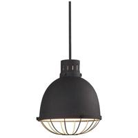 Uttermost 22163 Dayton 1 Light 13 inch Textured Black Pendant Ceiling Light