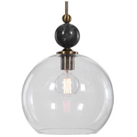 Uttermost 22176 Mendota 1 Light 14 inch Oxidized Aged Brass Pendant Ceiling Light