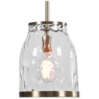 Uttermost 22187 Crossley 1 Light 9 inch Antique Brass Mini Pendant Ceiling Light