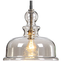 Uttermost 22192 Eaton 1 Light 12 inch Weathered Bronze and Antique Brass Accents Pendant Ceiling Light