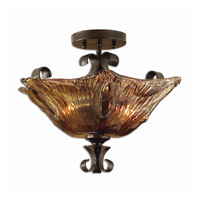 Uttermost 22200 Vetraio 2 Light 17 inch Oil Rubbed Bronze Semi Flush Mount Ceiling Light