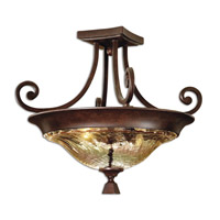 Uttermost Elba 2-Lt Semi Flush Mount in Spice 22209