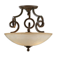 Uttermost Legato Semi Flush Mount in Distressed Chestnut Brown 22217