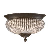 Uttermost 22222 Cristal De Lisbon 2 Light 15 inch Golden Bronze Flush Mount Ceiling Light