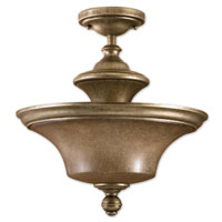 Uttermost Silvio 2 Light Semi Flush Mount in Antiqued Silver 22254 thumb