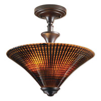 Uttermost Alexander 2 Lt Semi Flush Mount in Lightly Distressed Spice 22255