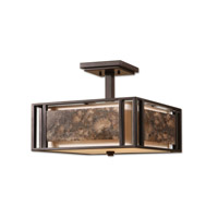 Uttermost Quarry 3 Lt Semi Flush Mount in Oil Rubbed Bronze 22268 photo thumbnail