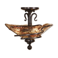 Uttermost 22269 Vitalia 3 Light 18 inch Oil Rubbed Bronze Semi Flush Mount Ceiling Light