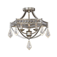 Uttermost Tamworth 3 Light Flush Mount in Burnished Silver Champagne Leaf 22275