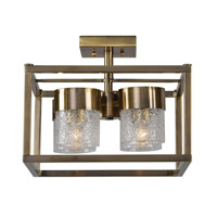 Marinot 4 Light 15 inch Antique Brass Semi Flush Mount Ceiling Light