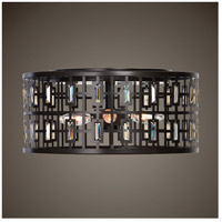 Uttermost 22279 Rhombus 4 Light 15 inch Weathered Bronze Flush Mount Ceiling Light 22279_ls.jpg thumb
