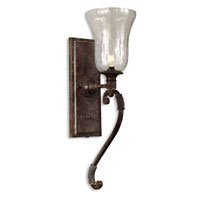 Uttermost Galeana Wall Sconce in Antique Saddle 22418