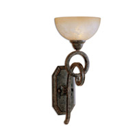 Legato 1 Light 8 inch Distressed Chestnut Brown Wall Sconce Wall Light