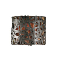 Naturals 1 Light 7 inch Aged Black Wall Sconce Wall Light