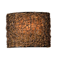 Uttermost Knotted Rattan 1 Lt Wall Sconce in Hand Rubbed Espresso 22466