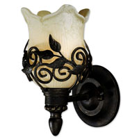 Uttermost Toulouse 1 Lt Wall Sconce in Heavily Burnished Wash 22482