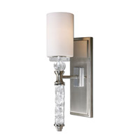 Uttermost Campania 1 Light Wall Sconce in Brushed Nickel 22486