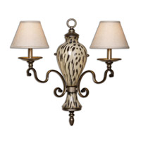 Uttermost Malawi Wall Sconce in Burnished Cheetah Print 22489