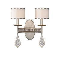 Tamworth 2 Light 15 inch Silver Champagne Leaf Wall Sconce Wall Light