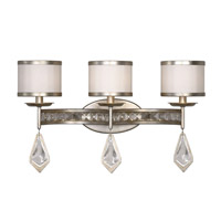 Uttermost Tamworth 3 Light Bath Light in Burnished Silver Champagne Leaf 22505