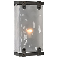 Brattleboro 1 Light 8 inch Matte Black with Antique Brass Sconce Wall Light