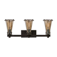 Frisco 3 Light 29 inch Rustic Vanity Light Wall Light