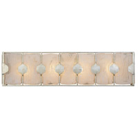 Rene 4 Light 27 inch Silver Leaf Vanity Wall Light