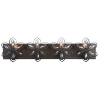 Uttermost 22869 Posey 4 Light 30 inch Bronze and Antique Gold Vanity Light Wall Light
