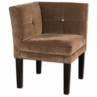 Uttermost Nia Corner Chair in Suede Toffee Fabric 23000 photo thumbnail