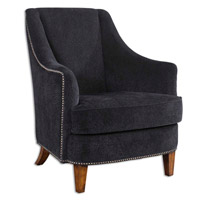 Uttermost Nala Armchair in Midnight Black Lounge Chair Has Fabric 23002