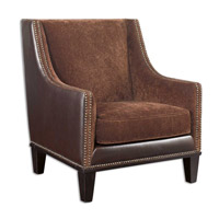 Uttermost Derek Armchair in Coordinated Chestnut Swirl Fabric 23004