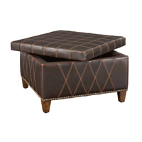 Uttermost Wattley Storage Ottoman in Rugged Sable Brown 23005