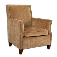 Uttermost Amani Armchair in Plush Flaxen Seating Area 23006