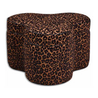 Uttermost 23033 Nemera 20 inch Lush Browns And Black Storage Ottoman thumb