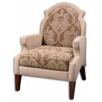 Uttermost 23034 Papyrus Sand Taupe And Warm Beige Tailoring Armchair photo thumbnail