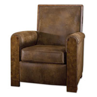 Uttermost Consuelo Pushback Armchair in Distressed Pecan 23035 photo thumbnail