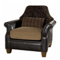 Uttermost Aarika Armchair in Golden Brown And Black Animal Print 23043 photo thumbnail