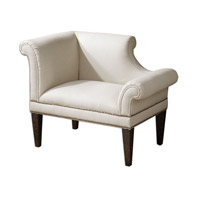 Uttermost Fontaine Armchair in Weathered Black 23047