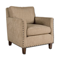 Keturah Soft Dobby Chenille in Neutral Driftwood Armchair