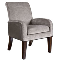 Uttermost 23069 Milton Stormy Gray Velvet and Slate Faux Ostrich Accent Chair thumb