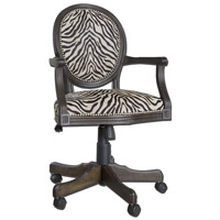 Uttermost Yalena Desk Chair in Distressed Black 23077