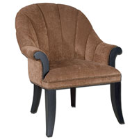 Uttermost Tamrika Armchair in Lush Coppery Velvet 23083 photo thumbnail