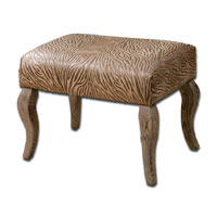 Uttermost Majandra Small Bench in Sueded Henna Brown 23085 photo thumbnail